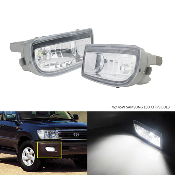 ANGRONG Front Fog Light Lamps 45W LED Bulb L&R For Toyota Land Cruiser Amazon 98-07