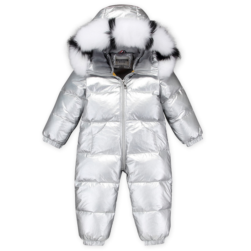 -30 Russian Winter Snowsuit 2019 Boy Baby Jacket 90% Duck Down Outdoor Infant Clothes Girls Climbing For Boys Kids Jumpsuit 2~5y