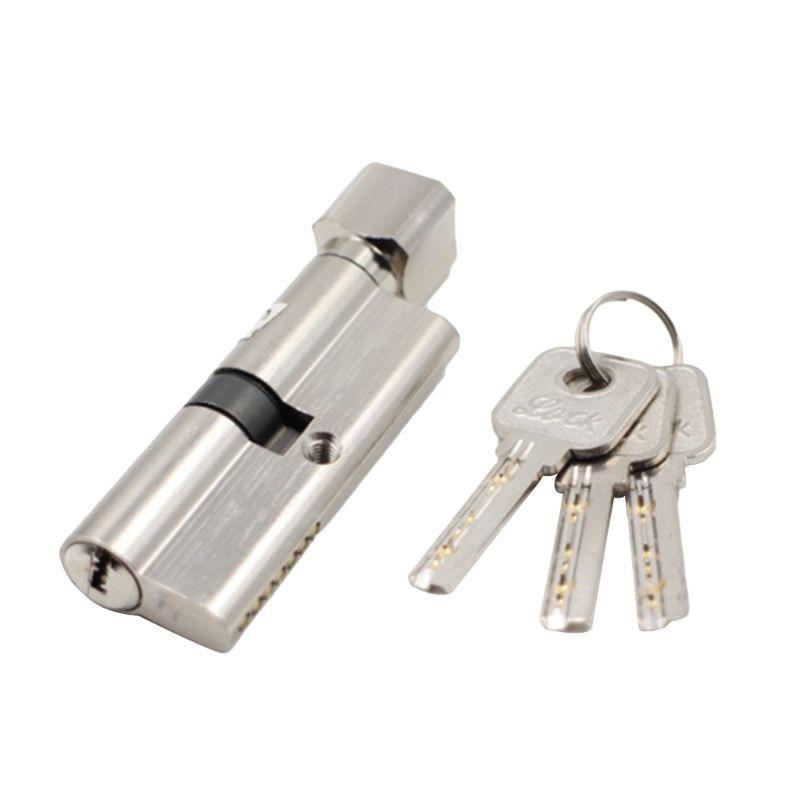 Door Lock Cylinder Anti-theft Entrance Metal Door Lock with 3 Keys