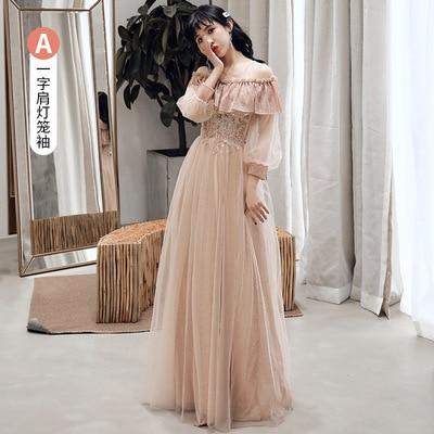 2019 New Style Bridesmaid Dress Fairy Elegant Summer Sister Group Wedding Formal Dress Long Graduation Dress Slimming Best Frien