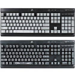 RGB 104 klawisze ANSI układ OEM ABS strzał podświetlany Keycap dla Corsair K70 K65 K95 Q6PA