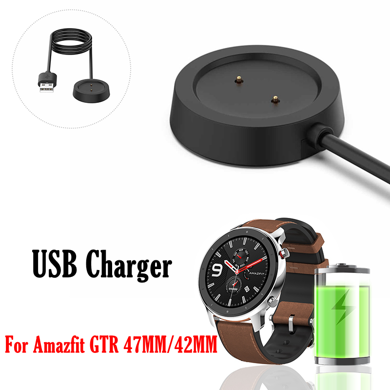 OLLIVAN 1M USB Dock Charger For Xiaomi Amazfit GTR 47mm 42mm Date Cable Charging For Amazfit GTR 47 42 Smart Watch Accessories