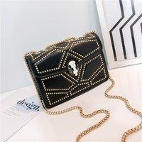 Designer pu Leather Small Shoulder Messenger Bags For Women 2020 quality Chain Rivet Lock Crossbody Bag Female Travel Mini Bags