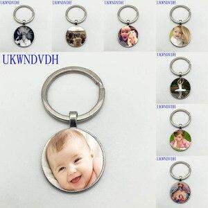 DIY индивидуальные моды личности фото мама братья сестры ребенок семейный портрет частная фотография Мини брелок для ключей