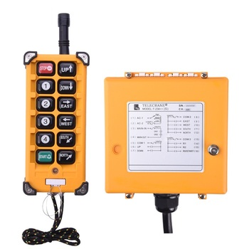 цена на 8 Channels single speed Industrial Wireless Radio remote controller switch speed control Hoist Crane Control Lift Crane F23 A++S