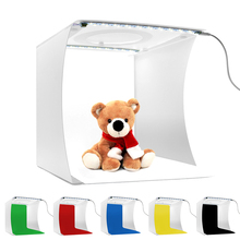LED Folding Photo background light box Softbox with 2Pcs Photography lamp for photo studio for Photography backdrops for YouTube