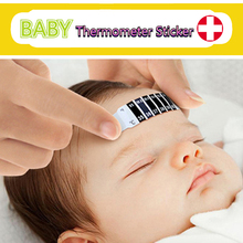 Body Thermometer Stick Tape Liquid Crystal Changed Color Forehead Thermometer Strip for Kids Adult Reusable Thermometer Monitor