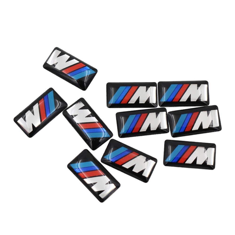 10 pièces autocollant de voiture sur les voitures pour BMW 1 3 5 7 série GTX1X3X5X6 M1 M2 M3 M4 M5 M6 roues de voiture et accessoires Auto autocollants pour voiture
