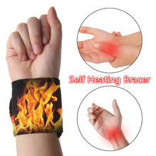 Brace Far-Infrared Therapy-Pads Relief-Tools Tourmaline Pain Sports-Wrist Magnetic 1pair