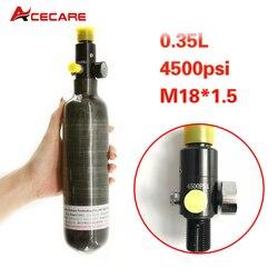 Tanque Acecare Pcp Air Rifle 350Cc 300bar, cilindro de fibra de carbono Pcp, tanque regulador de presión de Paintball, Carbine 5,5 Airforce Condor