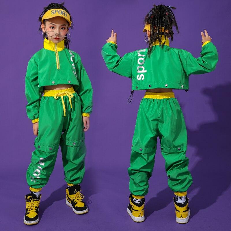 Korean Version Children's Jazz Dance Costume For Girls Hip-Hop Performance Costume Girls Catwalk Costume Streetwear Tide DL5297