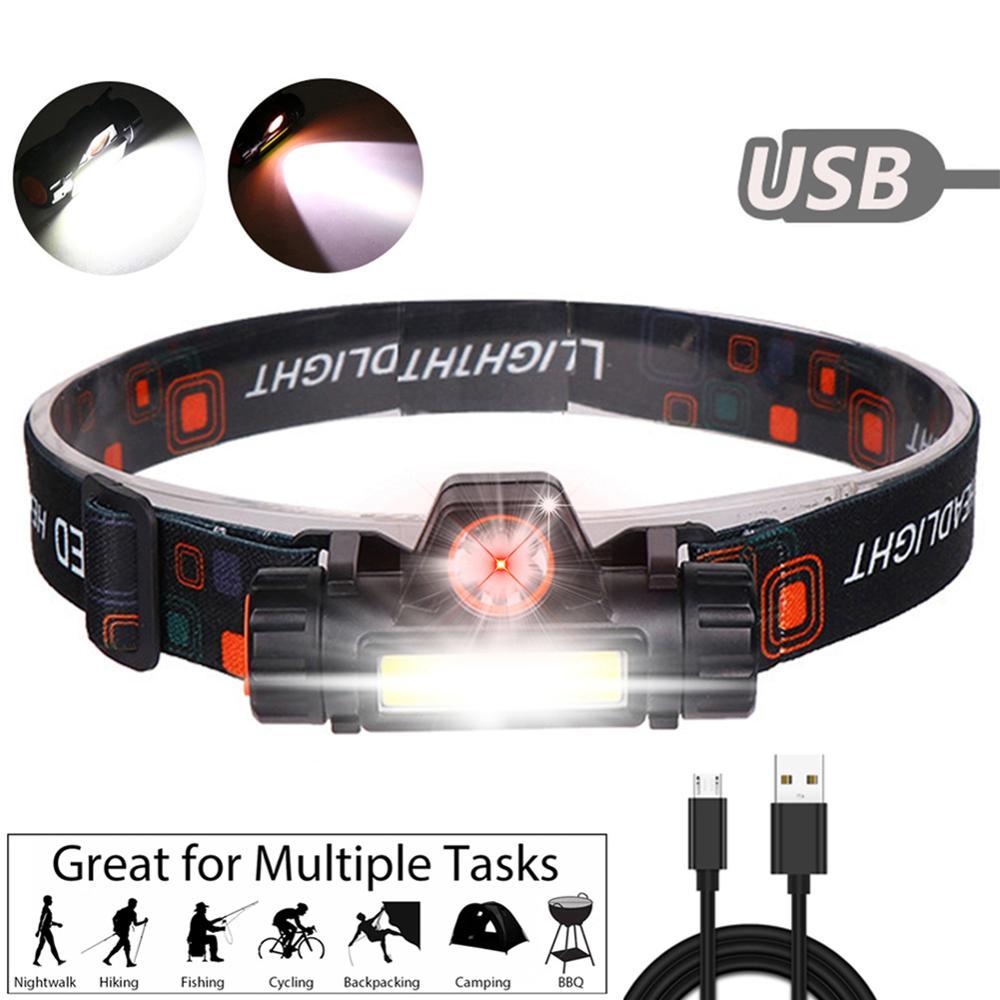 XPE + COB LED Scheinwerfer Hohe Helligkeit USB Aufladbare Taschenlampe Camping Kopf Licht für Outdoor Aktivität Leistungsstarke Taschenlampe