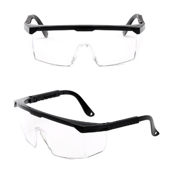 Okulary ochronne okulary ochronne anty-uv okulary ochronne okulary ochronne okulary ochronne przezroczyste okulary ochronne tanie i dobre opinie CAR-partment Jeden rozmiar Unisex Jasne Dust-Proof Glasses Safety Glasses Prevention Goggles Dropshipping