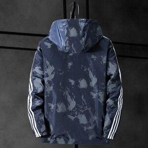 Image 5 - Chaqueta de camuflaje con capucha para hombre, chaqueta de lona militar, Parka, talla grande, 10XL, 9XL, 8XL, 7XL