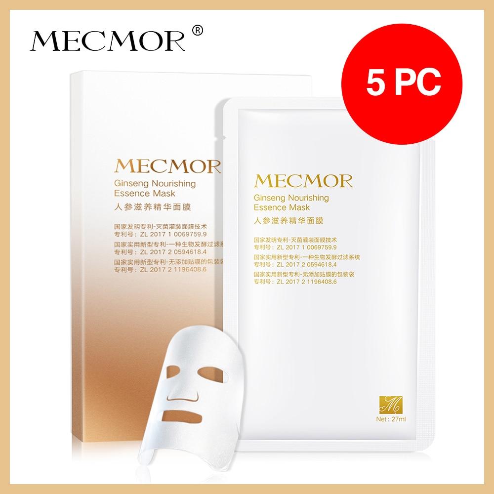 Ginseng nutritiva máscara facial con esencia brillo suavizante rostro reafirmante mecmero aditivo orgánico libre de todo tipo de piel suero