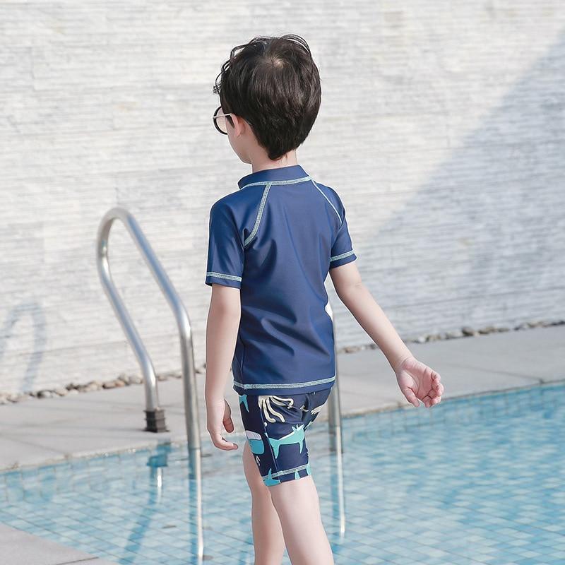 2019 New Style KID'S Swimwear Cartoon BOY'S Split Type Swimsuit Beach Baby Bathing Suit Swimming Trunks Sun-resistant Quick-Dry