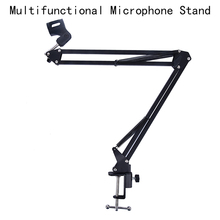 Microphone-Holder Extendable Recording Mounting-Clamp Mic-Clip Suspension-Boom-Scissor