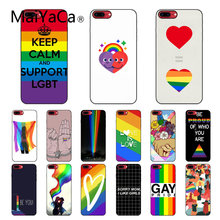 Maiyaca Gay Lesbian Lesbian Rainbow Pride Seni. Aksesoris Case untuk iPhone 11 Pro XS Max XS XR 8 7 6 Plus 5 5S SE(China)