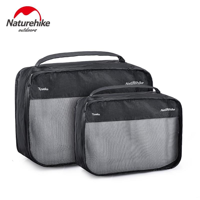NatureHike 2pcs M L Tyvek Swimming Storage Cosmetic Bag Travel Business Trip Portable Clothing Shoes Tear Resistance Storage bag
