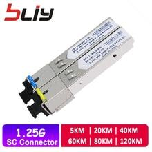 SC connector sfp module gigabit 1 pair 5km-120km DDM BIDI mini gbic 1.25G Otdr optical tranceiver for mikrotik compatible