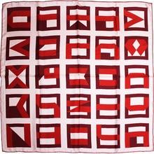 KMS Labyrinth silk twill square scarf scarf scarf women 90*90/45G tiens 0 45g 60
