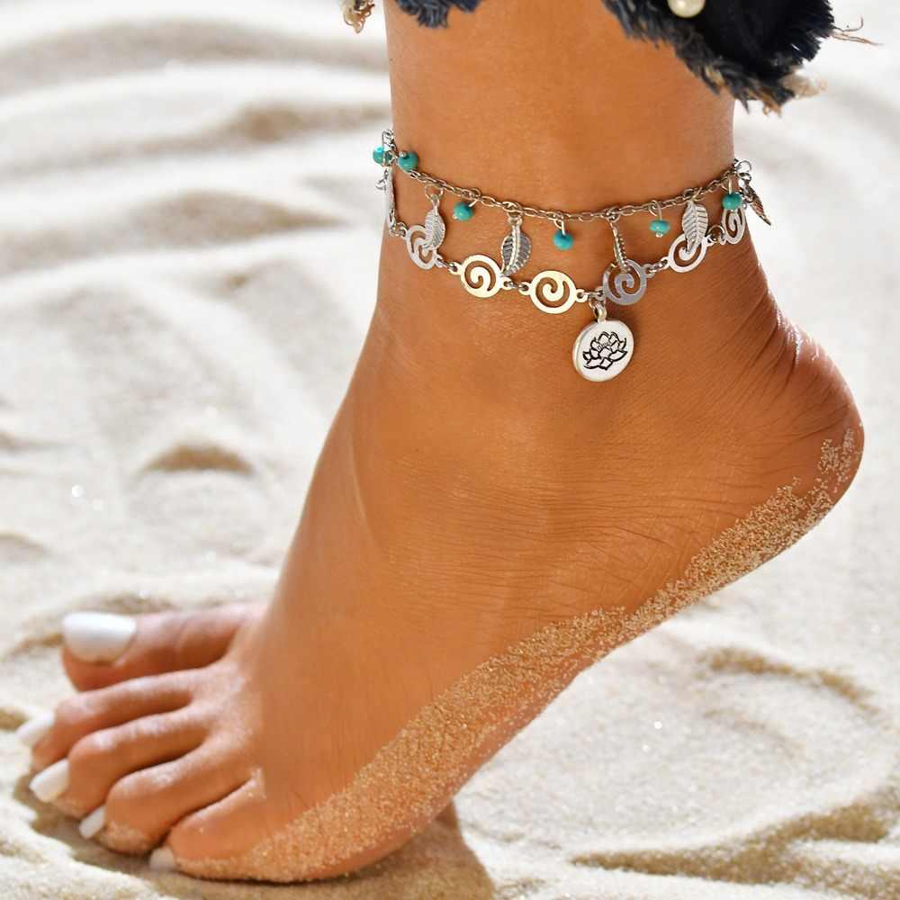 สไตล์Bohoสร้อยข้อเท้าแฟชั่นหลายห่วงโซ่ 2020 ข้อเท้าสร้อยข้อมือชายหาดอุปกรณ์เสริมของขวัญC1
