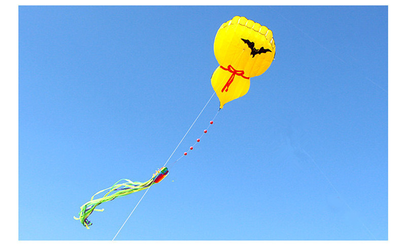 Новый 3D мультфильм надувная Тыква кайт длинный хвост воздушный змей с одним леером нервущийся кайт Спорт на открытом воздухе весело летающие игрушки для детей, подарок