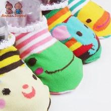 80 Pairs/lot  Lace Baby Girls Boys Socks Floor Socks Baby Cartoon Socks Thin Infant Sock
