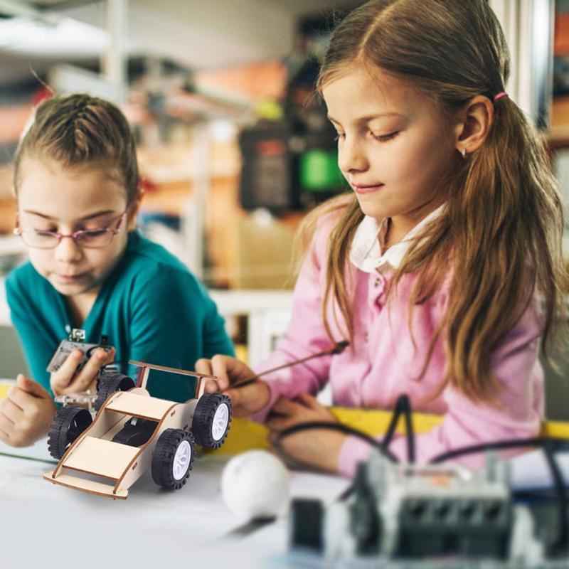 Kids Inertial Car Toys Kit Cute Shape Enhance Baby Sense Touch DIY Learn Educational Physics Science Assemble Craft