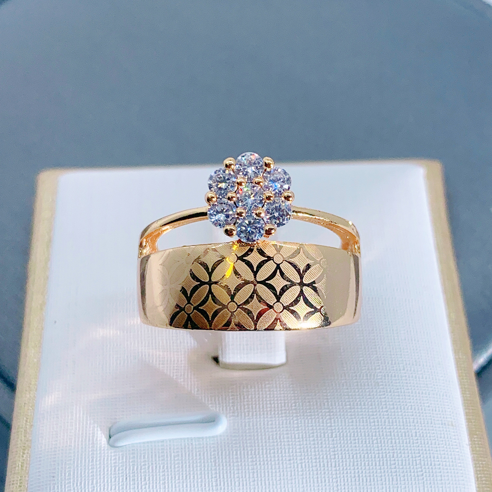 LUALA Shiny Clear Zircon Rose Gold Ring For Women Fashion Square Engagement Party Bride Wedding Luxury Jewelry Bijoux No Fade 1