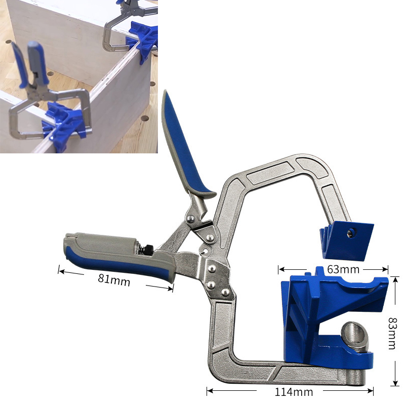 90 Degree Right Angle Woodworking Clamp Quick Clamp Pliers Picture Frame Corner Clip Hand Tool T-Clamp Auto-adjustable