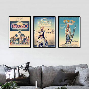 Cinema Paradiso Poster Decorative DIY Wall Canvas Sticker Home Bar Art Posters Decor image
