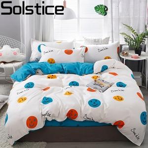 Solstice Home Textile Dinosaur Land Cartoon Blue Duvet Cover Pillowcase Flat Bed Sheet Kid Child Teen Boy Girl Bedding Linen Set(China)