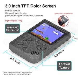 """Image 3 - Retro elde kullanılır oyun konsolu taşınabilir 8 Bit 400 1 klasik oyunları FC NES konsolu 3 """"monitör büyük ekran noel hediyeler"""
