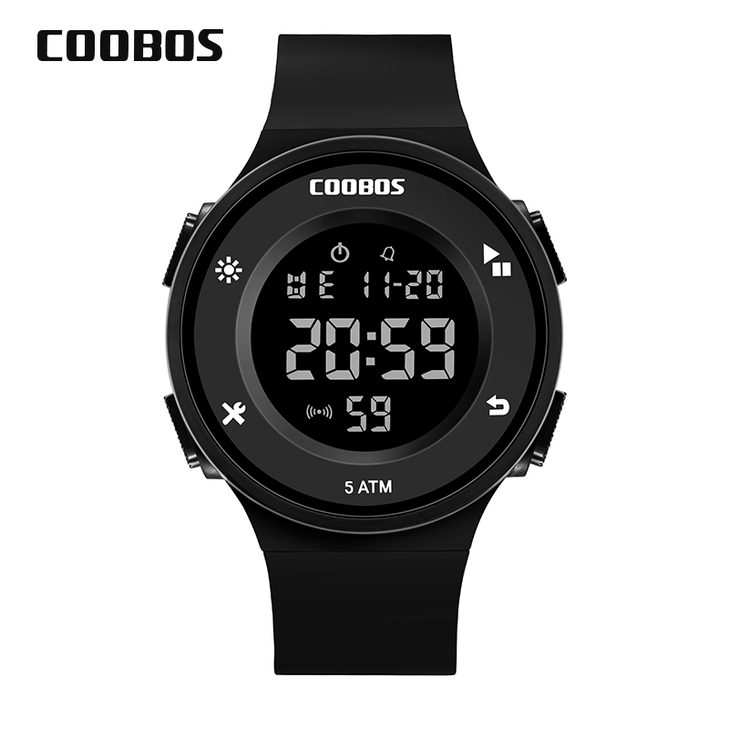Digital Clock Diving-Watches Surf Military-Shock Outdoor Sports Waterproof Men's LED