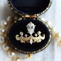 Vintage feminino coroa anel de promessa real 925 prata esterlina aaaaa cz noivado anéis de banda de casamento para mulheres moda masculina jóias