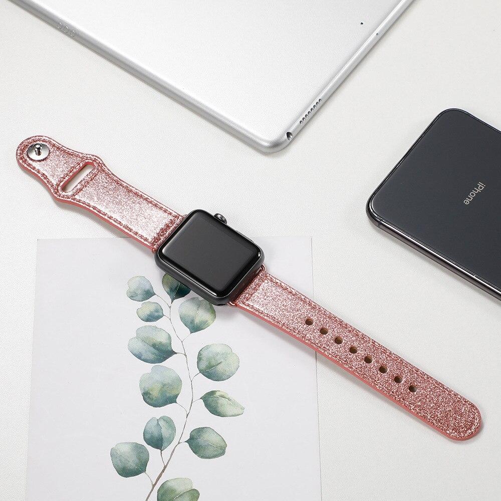 Pulseira do relógio Pulseira para Apple Faixa de Couro