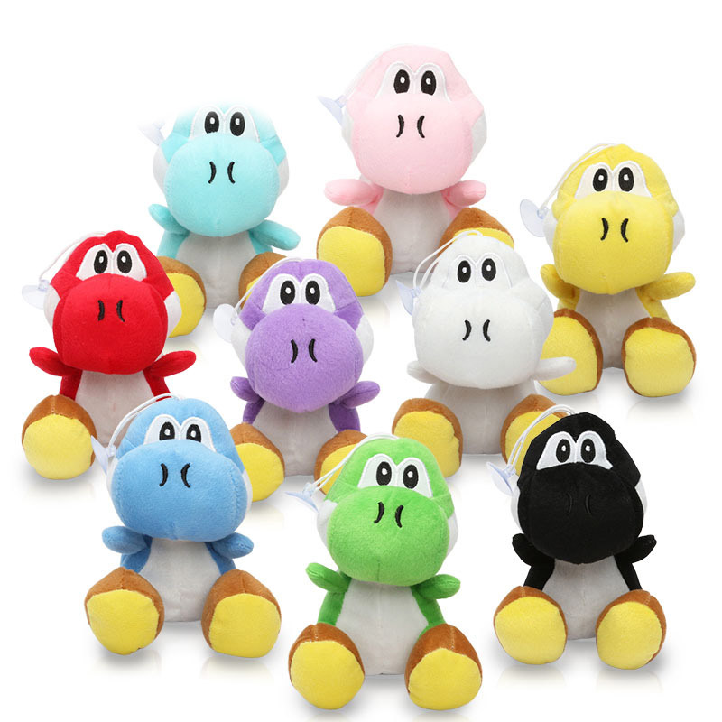 17cm Super Mario Bros Green Yoshi Plush Stuffed Dolls Mario Plush Toys Peluche Doll Figures Toys 10 Colors