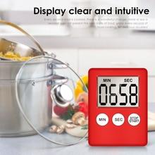 Супер тонкий lcd цифровой экран кухонный таймер квадратный кухонный будильник прямого и обратного счета с магнитные часы 3 цвета Прямая поставка