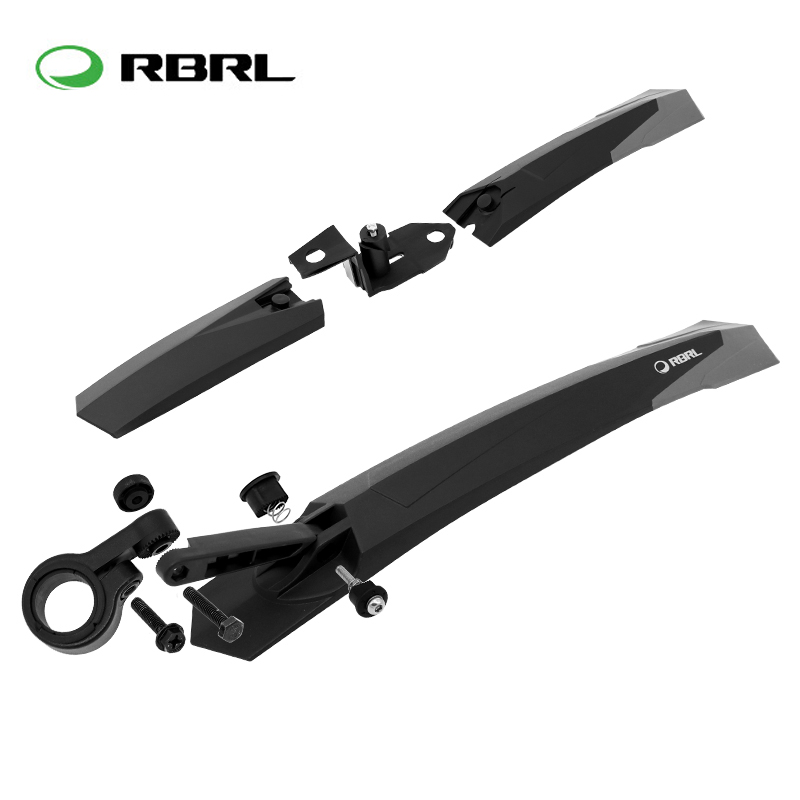 2pcs Bike Wings MTB Mountain Bicycle Front Rear Mudguard Set Lengthening/width Road Bike Racks Fender Mud Guards for 26 27.5"