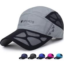 Baseball-Caps Summer Mesh Sun-Hats Golf-Fishing-Cap Adjustable Quick-Dry Outdoor-Sports
