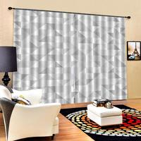 Customized 3D Curtain Mosaic Design and Geometrical Modern Art Image Pattern Fabric Blackout Curtains For Living room