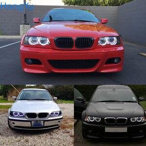 Image 5 - Kit de luces led para coche, iluminación excelente Ultra brillante smd, Ojos de Ángel, anillo halo, para BMW E46, sedan touring