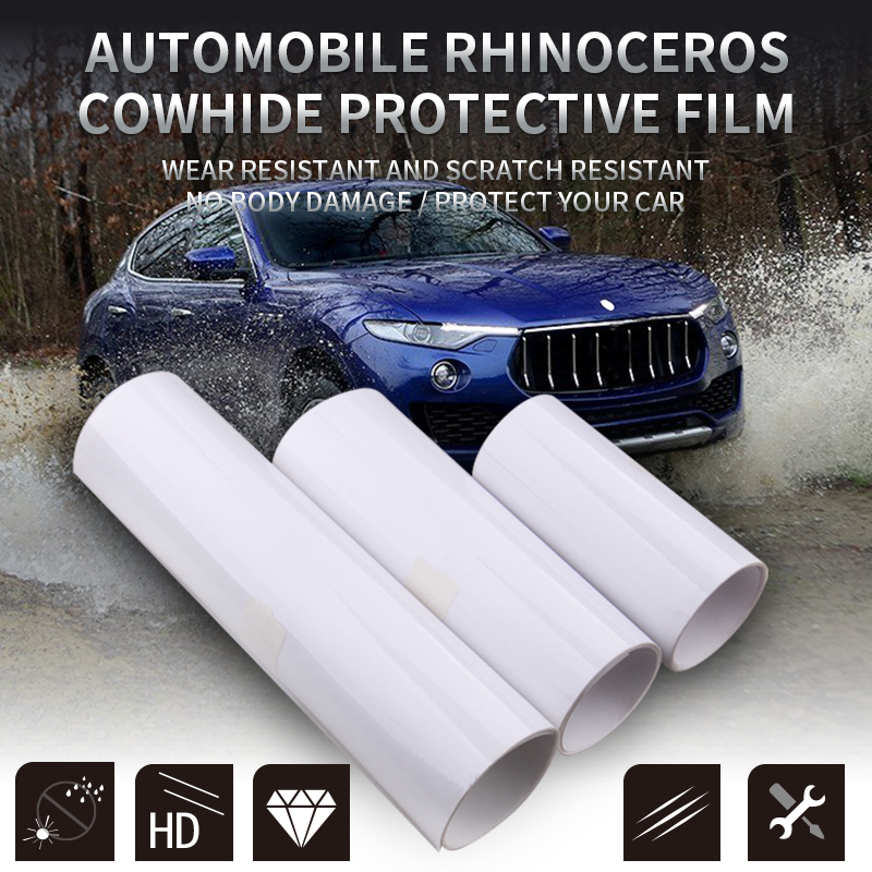 Dropshipping 10x300cm PVC Protective Film Car Bumper Hood Paint Protection Sticker Anti Scratch Clear Transparence Film
