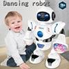 Dans eden Robot oyuncak dönen hafif müzik elektronik şarkı oyuncaklar Robot doğum günü hediyesi çocuklar çocuklar için akıllı erken 2021 yeni