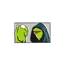 Cartoon Frog Kermit Consulting His Conscience Inner Me Animal Hoodie Godfather Hip-Hop Punk Enamel Brooches Lapel Pins