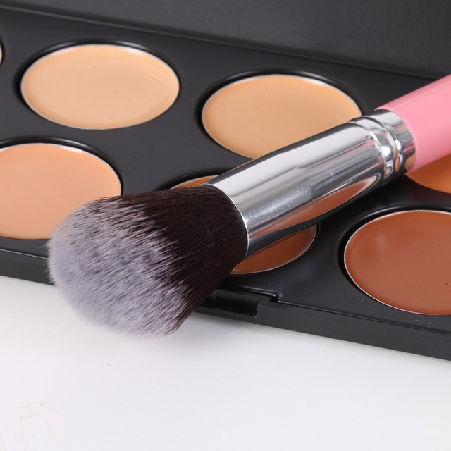 12Pcs/Set Professional Makeup Brushes Tool Eye Shadow Foundation Eyebrow Lip Makeup Brush cosmetics Leather Cup Holder Case Kit 4
