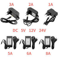 12V Power Supply 5V 24V 1A 2A 3A 5A 6A 8A DC 5 12 24 V Volt Transformers 220V To 12V 5V 24V Power Supply LED Driver Strip Lamp