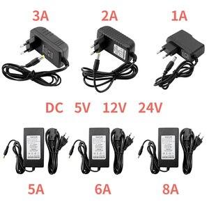 Image 1 - Netzteil, 12 V Volt 5V 24 V 1A 2A 3A 5A 6A 8A DC 5 12 24 V Transformatoren, 220V Zu 12 V 5V 24 V Netzteil Led treiber Streifen Lampe