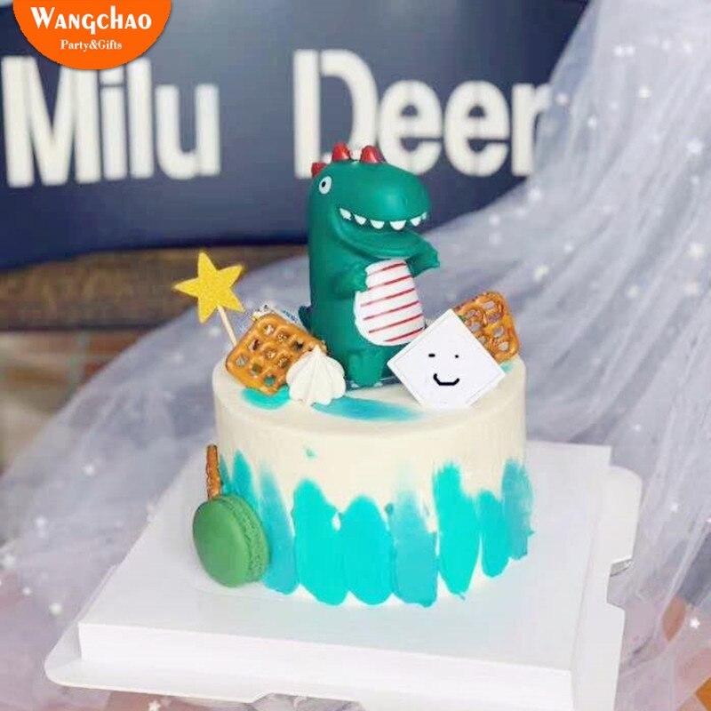 Excellent Funny Latex Dinosaur Happy Birthday Cake Topper Dinosaur Smile Big Funny Birthday Cards Online Alyptdamsfinfo